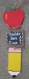 Teacher Gifts 92St - Teacher Stringer - Apple, Slate and Pencil