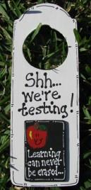 DR2003 Doorknob Shh...We're Testing