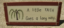 DS2 - A little Faith Goes a Long way wedge Desk Sign