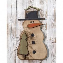16411 Hanging Snowman w/Tree