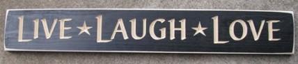 G9026BK - Live Love Laugh engraved wood block