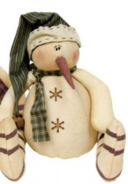 GC11170H - Snowman with cap and jingle bell on the end