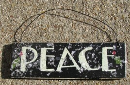 GH5166P - Peace Wood Glittery Sign