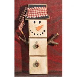 Christmas GJHX8982 Snowman Ornament Wood Block