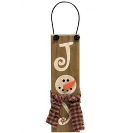 Joy Snowman GJHX9076 Sign Ornament