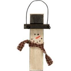 GJHX9077A Antiqued Snowman Ornament w/Bow