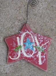 HO-5161 Joy wood star Ornie