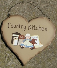 HP12 - Country Kitchen Wood Heart