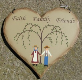HP26 - Faith Family Friends wood heart