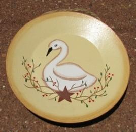 Primitive Wood Mini Swan Plate mini2