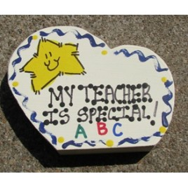 MTIS - My Teacher is Special sideways wood heart