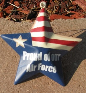 OR226 - Proud Air Force - Metal Star
