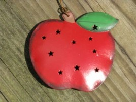 3DPunched Tin OR319 Apple Ornament
