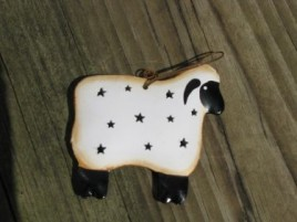 OR324- Sheep tin punched ornament