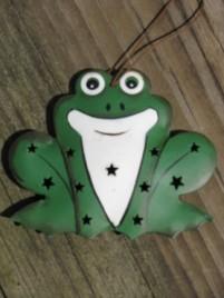 Christmas Ornament OR-327 Frog  Tin