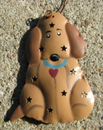 OR-329 Dog 3D tin punched ornament