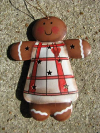 Christmas Metal Ornament OR-345 Gingerbread