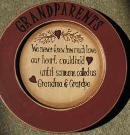 P11GP-11 Wood Grandparents Plate