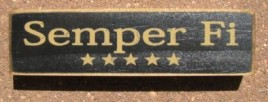 PBW942B - Semper Fi wood block