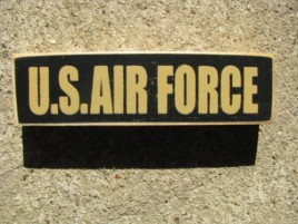 PBW943B - U S Air Force wood block
