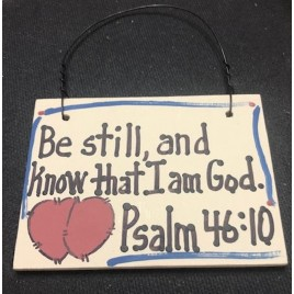 Crafts Wood Scripture Sign Psalm 46:10 Be Still, and know that I am God