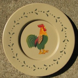 RPM10 - Rooster Wood Plate