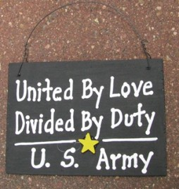 ss12- US Army Wood Sign