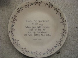 Primitive Wood Plate 32139-Serve the Lord