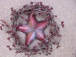 Patriotic Wreath STW-3 Red Star in Wreath