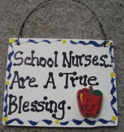 Teacher Gifts SW40 Wood Sign School Nurses are a True Blessing