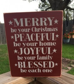 T2227 Merry Be Your Christmas Wood Sign
