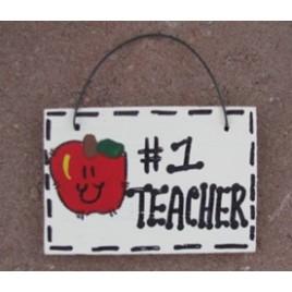 T3200- #1 Teacher wood sign