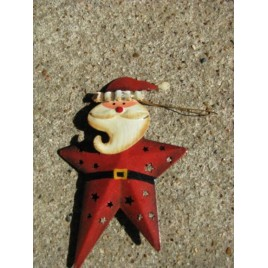 OR-350 Santa metal ornament