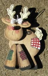 1092 - Reindeer Wood Ornament