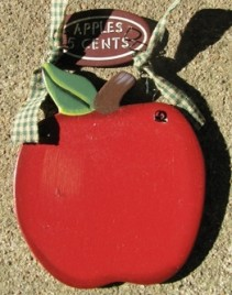 WD1105- Apple 5 Cents Wood Sign