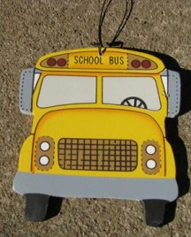 1224 - School Bus Wood Sign