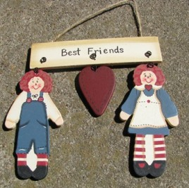 WD1268-Raggedy Ann and Andy Wood sign