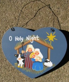 1330 - O Holy Night Wood Christmas Ornament