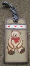 WD1462 - Teddy Bear Wood Gift Tag