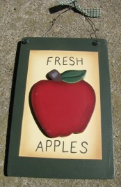 Country Apple Plaque WD2021A - Fresh Apples