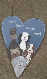 WD2048 - Cold Nose Warm Heart Wood Sign