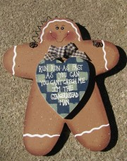 WD296 - Gingerbread Man Wood