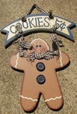 WD326 - Cookies 5 cents Gingerbread Wood