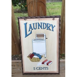 WD653 - Laundry 5 cents Wood Sign