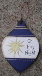 Wood Christmas Ornament WD856 - Oh Holy Night