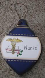 Wood Christmas Ornament wd858 - Nurse