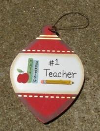 Wood Christmas Ornament wd859 Teacher #1