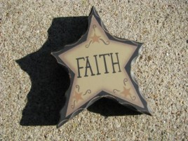 Primitive Wood WD902 - Faith Standing Star