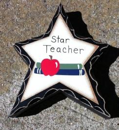 Teacher Gifts WD918 Star Teacher Wood Standing Star