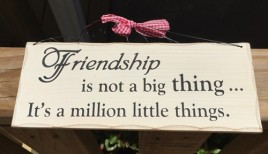 WP323-Friendship is not a big thing...it's a millon little things
